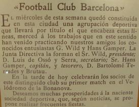 Histoire-FootballClubBarcelone