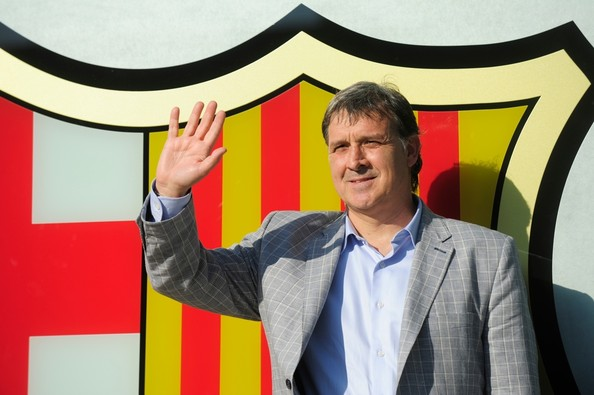 Gerardo Martino lors de son premier jour à Barcelone