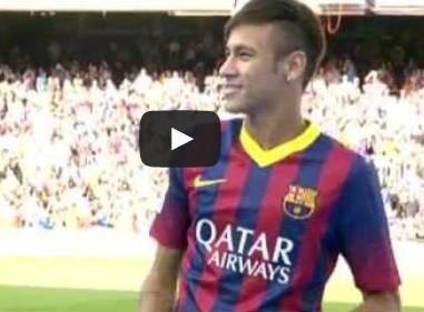 Neymar a été présenté au Camp Nou - Fc-Barcelone.com