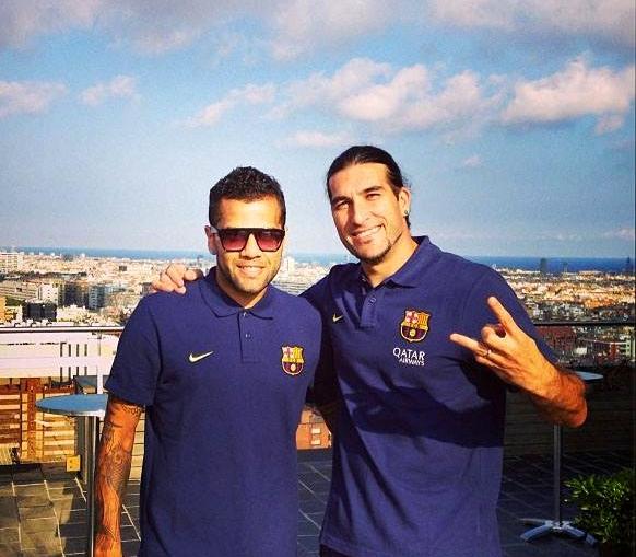 Alves et Pinto concentrés avant le match - Fc-Barcelone.com