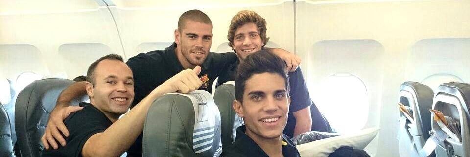 Le Barça en route pour Glasgow - Fc-Barcelone.com