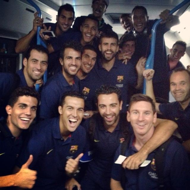 Les joueurs satisfaits de leur victoire - Fc-Barcelone.com