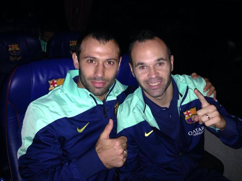 Mascherano et Iniesta satisfaits après le match - Fc-Barcelone.com