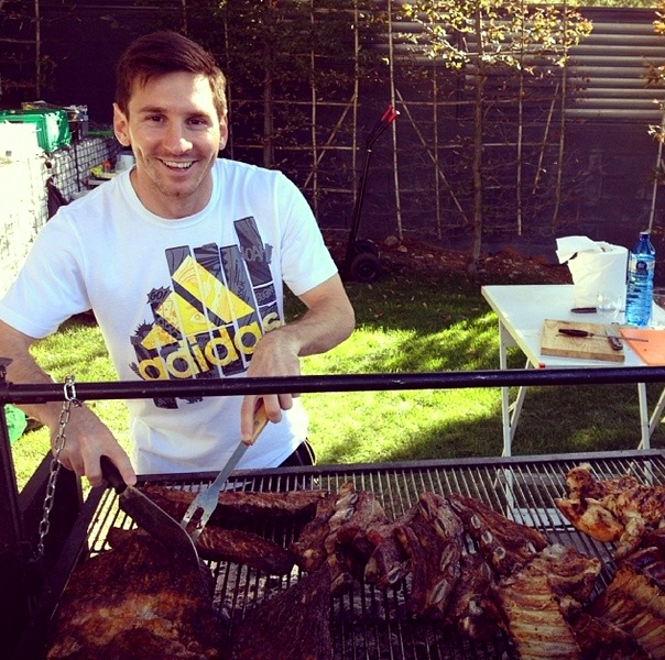 Le barbecue de Lionel Messi - Fc-Barcelone.com