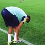 L'échauffement de Neymar - Fc-Barcelone.com
