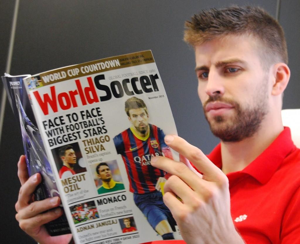 Piqué en Une d'un magazine anglais - Fc-Barcelone.com