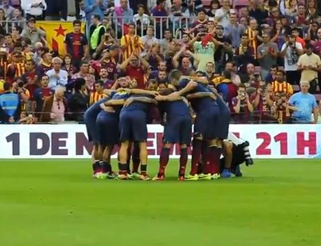 Clasico: L'échauffement du Barça - Fc-Barcelone.com