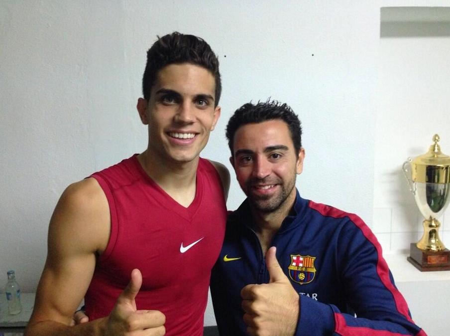 Bartra et Xavi heureux de la victoire face au Betis - Fc-Barcelone.com