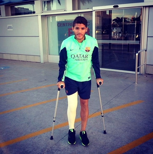 Premier jour de physiothérapie pour Dos Santos - Fc-Barcelone.com