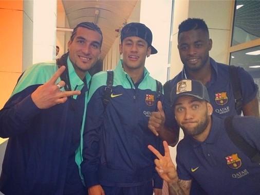 Les joueurs satisfaits de la victoire à Séville - Fc-Barcelone.com