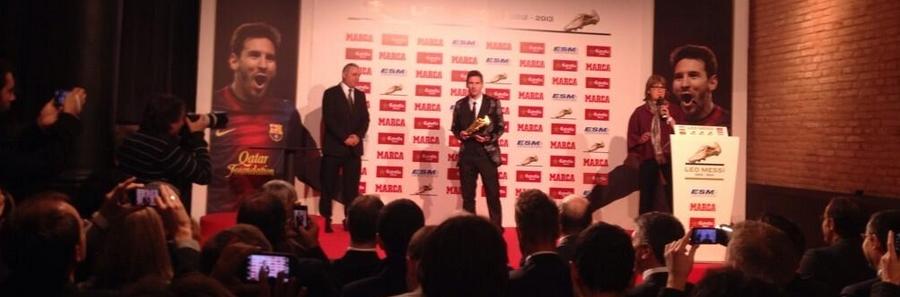 Lionel Messi a reçu son Soulier d'Or - Fc-Barcelone.com