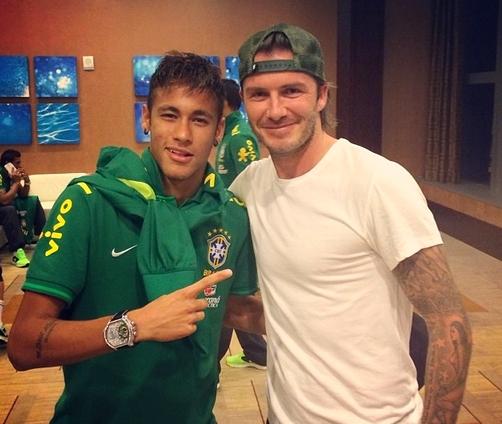 Rencontre entre David Beckham et Neymar Jr - Fc-Barcelone.com
