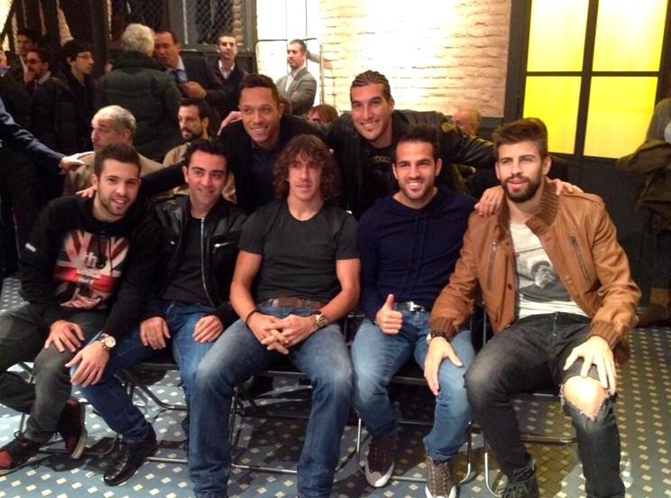 Les joueurs présents pour le Soulier d'Or - Fc-Barcelone.com