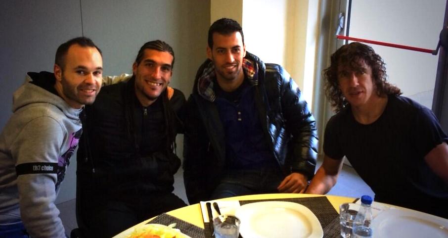 Déjeuner d'équipe au centre d'entraînement - Fc-Barcelone.com