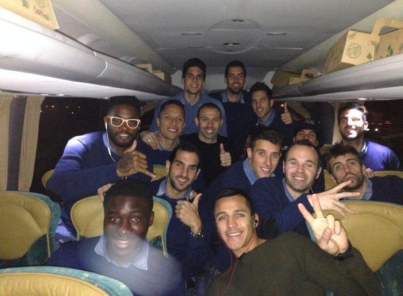 Les joueurs en vacances - Fc-Barcelone.com