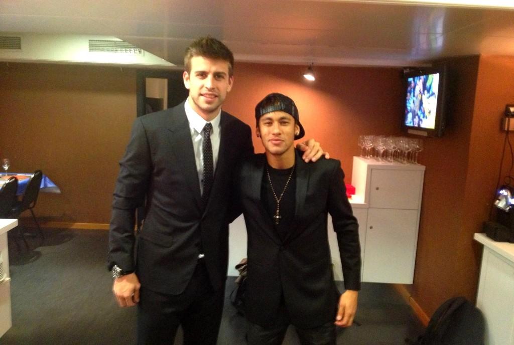 Piqué et Neymar après le match - Fc-Barcelone.com