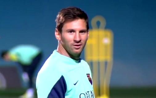 Messi s'est entraîné avec le groupe - Fc-Barcelone.com