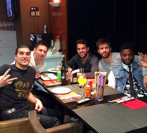 Dîner entre joueurs - Fc-Barcelone.com