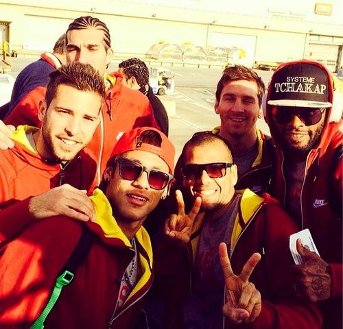 Le groupe pour Madrid - Fc-Barcelone.com