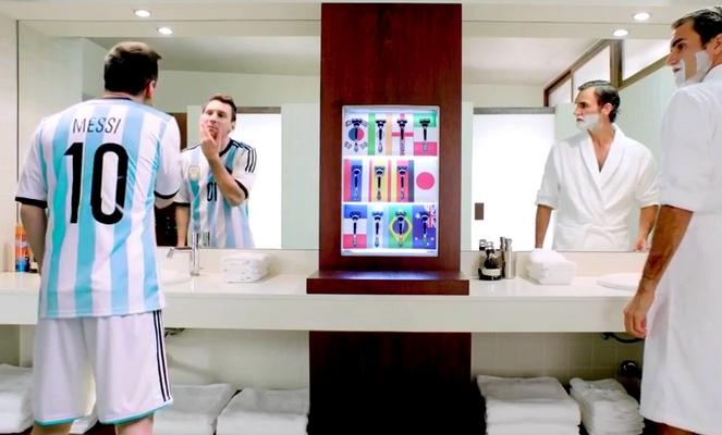 Nouvelle pub avec Messi et Federer - Fc-Barcelone.com