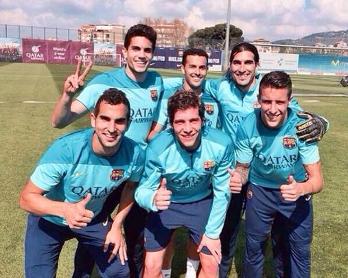 Les joueurs s'entraînent à Barcelone - Fc-Barcelone.com