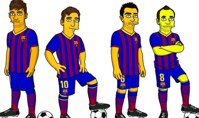 Les «Simpsons» Barça - Fc-Barcelone.com