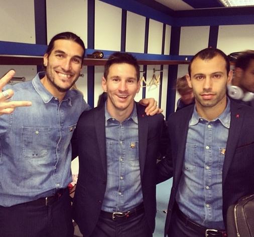 Les joueurs satisfaits - Fc-Barcelone.com