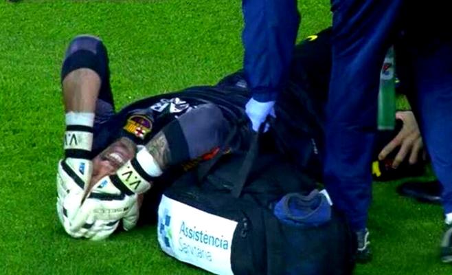 Valdés blessé pour 6 mois - Fc-Barcelone.com