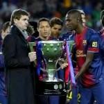 Abidal à l'entraînement du Barça - Fc-Barcelone.com