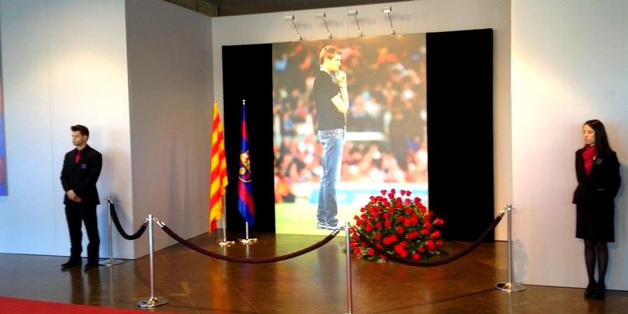 Un espace de condoléances au Camp Nou - Fc-Barcelone.com