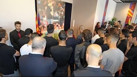 L'adieu des joueurs à Tito - Fc-Barcelone.com