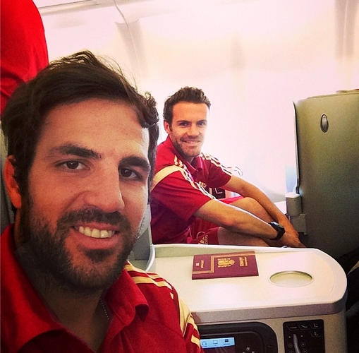 Cesc en route vers le Brésil - Fc-Barcelone.com