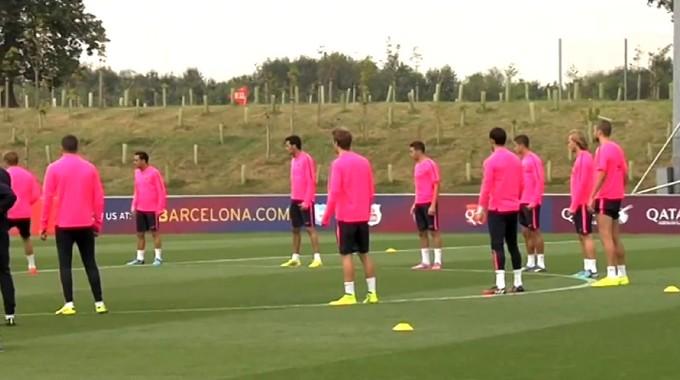Nouvel entraînement avant la Real - Fc-Barcelone.com