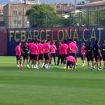 Premier entraînement pour Suarez - Fc-Barcelone.com