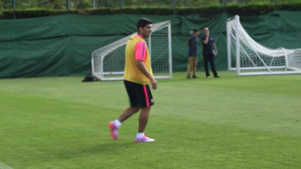 Luis Suarez à l'entrainement - Fc-Barcelone.com