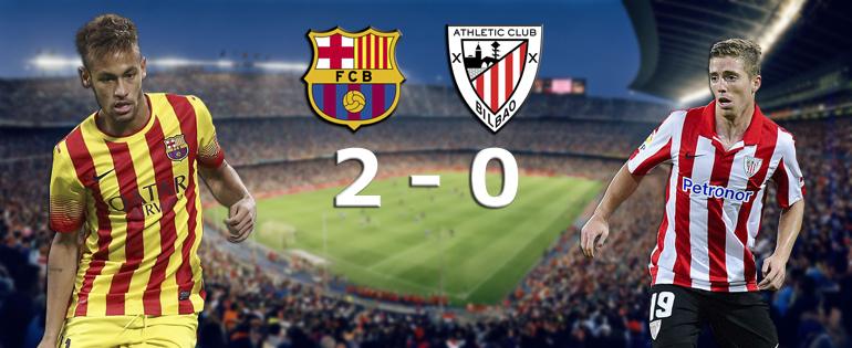 Doublé décisif de Neymar contre Bilbao - Fc-Barcelone.com