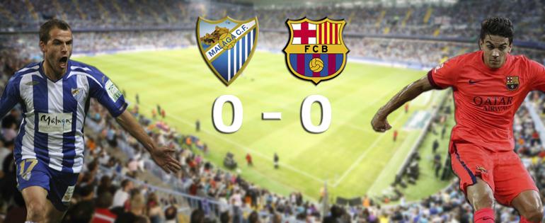 Malaga accroche le Barça - Fc-Barcelone.com