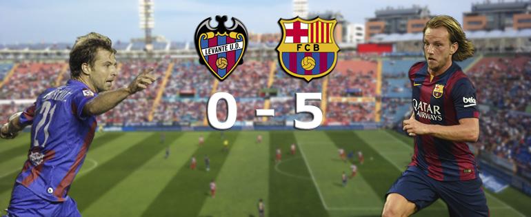 Le Barça s'amuse à Levante - Fc-Barcelone.com