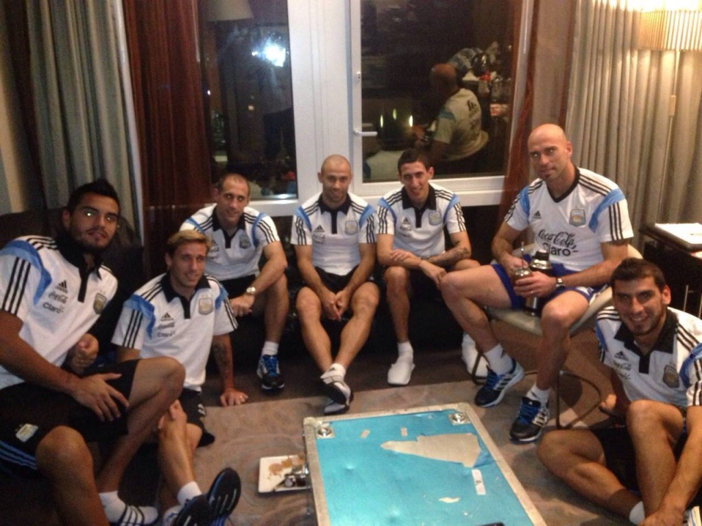 Mascherano avec l'Argentine - Fc-Barcelone.com
