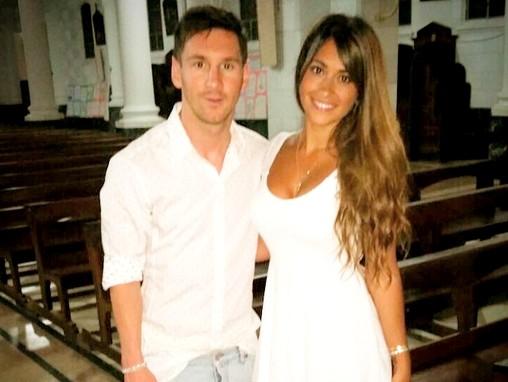 Messi au baptême de son filleul - Fc-Barcelone.com
