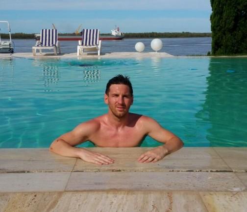 Messi encore en vacances - Fc-Barcelone.com