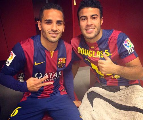 Douglas et Rafinha satisfaits - Fc-Barcelone.com