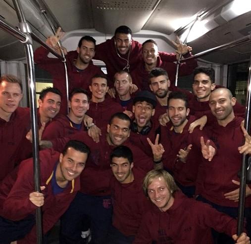 Bonne ambiance au Barça - Fc-Barcelone.com
