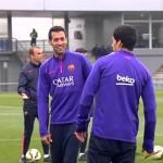 Busquets s'entraîne avec le groupe - Fc-Barcelone.com