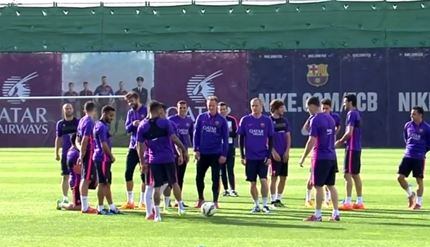 Le Barça s'entraîne pour ce week-end - Fc-Barcelone.com