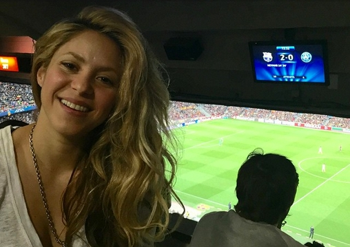 Shakira au Camp Nou - Fc-Barcelone.com