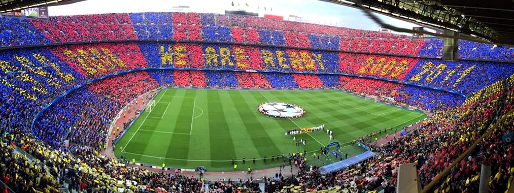 Le «tifo» contre le Bayern - Fc-Barcelone.com