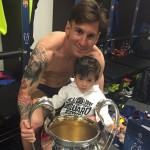 Messi avec la coupe ! - Fc-Barcelone.com