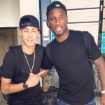 Quand Neymar croise Drogba - Fc-Barcelone.com