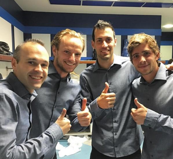 Satisfaction dans le vestiaire - Fc-Barcelone.com